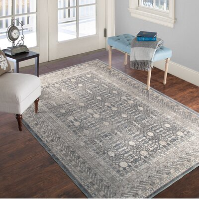 Vintage Greek Gray Area Rug Rug Size: 8 x 10