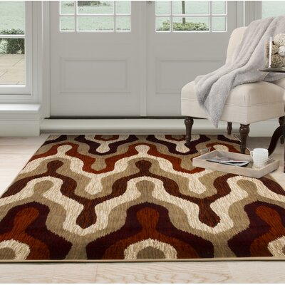 Silhouette Red Area Rug Rug Size: Rectangle 53 x 77