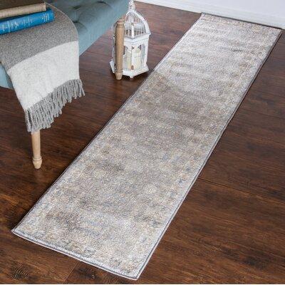 Vintage Greek Gray Area Rug Rug Size: Runner 18 x 7