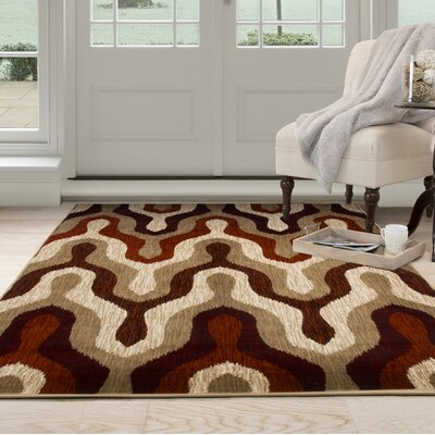 Silhouette Red Area Rug Rug Size: Rectangle 33 x 5