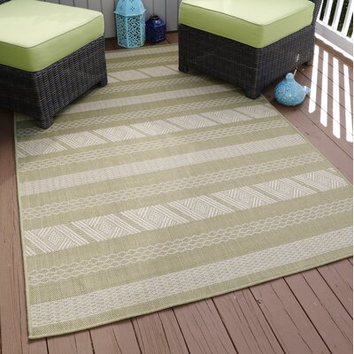 Geen/Beige Indoor/Outdoor Area Rug