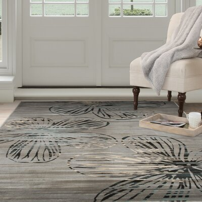 Modern Gray Area Rug Rug Size: Rectangle 8 x 10