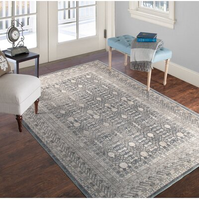 Vintage Greek Gray Area Rug Rug Size: 33 x 5