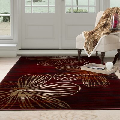 Modern Red Area Rug Rug Size: Rectangle 33 x 5