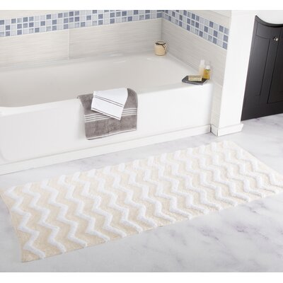 Chevron Bath Mat Color: Bone