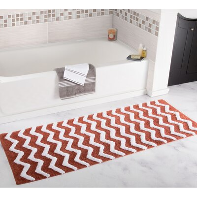 Chevron Bath Mat Color: Brick