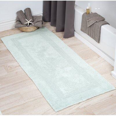 Cotton Long Bath Rug Color: Seafoam