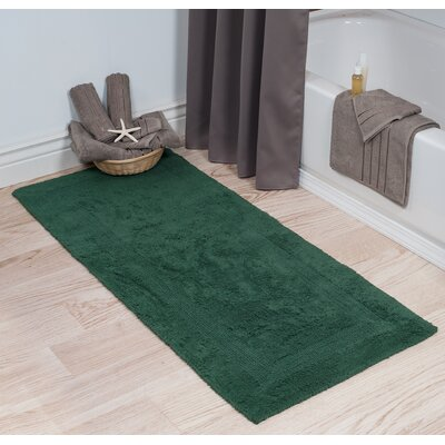 Cotton Long Bath Rug Color: Green