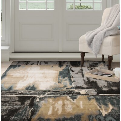 Artfully Abstract Gray/Beige Area Rug Rug Size: 8 x 10