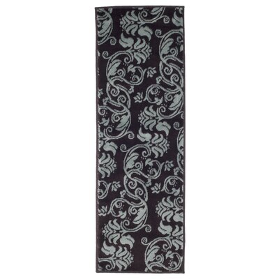 Floral Scroll Brown/Gray Area Rug Rug Size: Runner 18 x 5