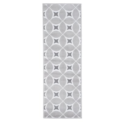 Geometric Gray Area Rug Rug Size: Runner 18 x 5