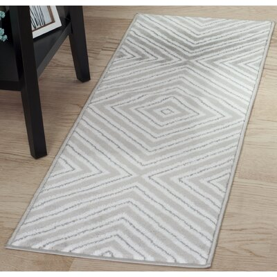 Kaleidoscope Gray Area Rug Rug Size: Runner 18 x 5