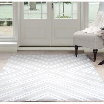Kaleidoscope Gray Area Rug Rug Size: 5 x 77