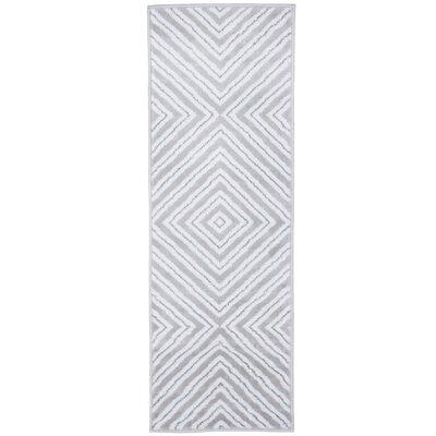 Kaleidoscope Gray Area Rug Rug Size: Runner 1'8