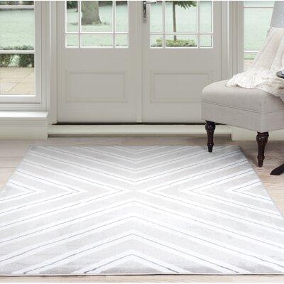 Kaleidoscope Gray Area Rug Rug Size: 33 x 5