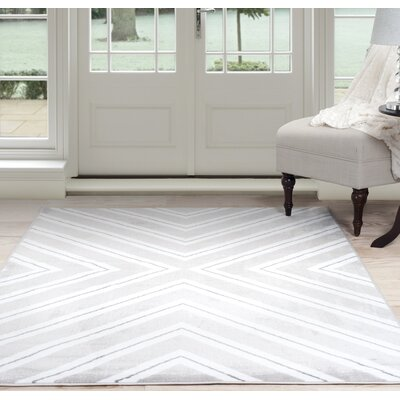 Kaleidoscope Gray Area Rug Rug Size: Rectangle 33 x 5