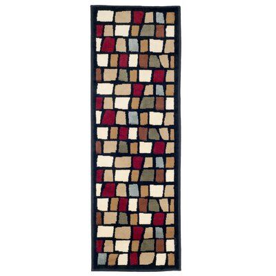 Blocks Black/Beige Area Rug Rug Size: Runner 18 x 5