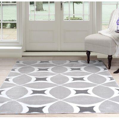Geometric Gray Area Rug Rug Size: 4 x 6