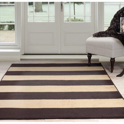 Autumn Stripe Beige/Brown Area Rug Rug Size: 33 x 5