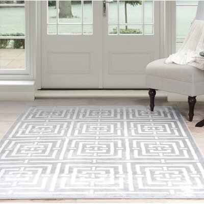 Athens Gray Area Rug Rug Size: Rectangle 4 x 6