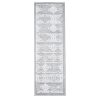 Athens Gray Area Rug Rug Size: Runner 18 x 5