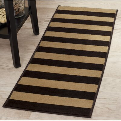 Autumn Stripe Beige/Brown Area Rug Rug Size: Runner 18 x 5