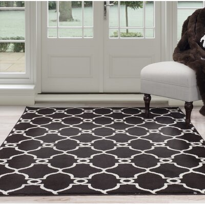 Brown Area Rug Rug Size: 5' x 7'7