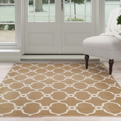Lattice Beige/Brown Area Rug Rug Size: 33 x 5