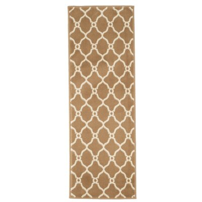 Lattice Beige/Brown Area Rug Rug Size: Runner 1'8