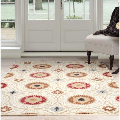 Oriental Beige/Brown Area Rug Rug Size: 5 x 77