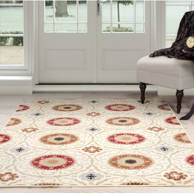 Oriental Beige/Brown Area Rug Rug Size: 4 x 6
