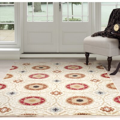 Oriental Beige/Brown Area Rug Rug Size: 33 x 5