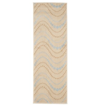 Modern Waves Beige/Brown Area Rug Rug Size: Runner 18 x 5