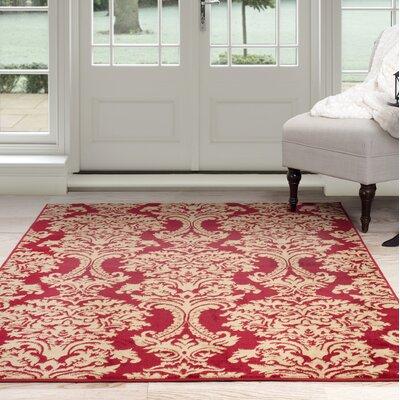 Oriental Red/Beige Area Rug Rug Size: 8 x 10