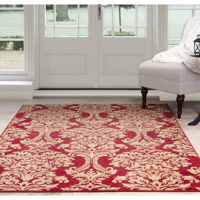 Oriental Red/Beige Area Rug Rug Size: 33 x 5