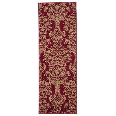 Oriental Red/Beige Area Rug Rug Size: Runner 18 x 5