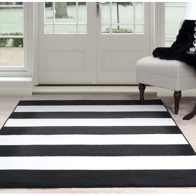 Bold Stripe Black/White Area Rug Rug Size: 8 x 10