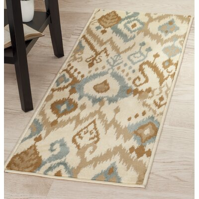 Beige/Brown Area Rug Rug Size: Runner 18 x 5