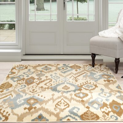 Beige/Brown Area Rug Rug Size: 4 x 6
