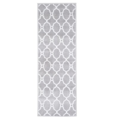 Lattice Gray Area Rug Rug Size: Runner 18 x 5