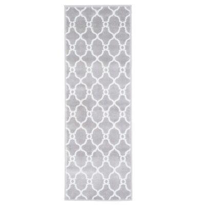 Lattice Gray Area Rug Rug Size: Runner 18 x 5