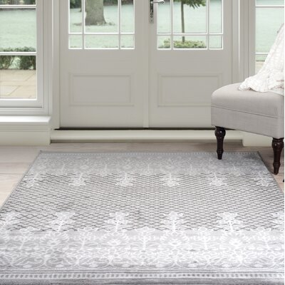Royal Garden Gray Area Rug Rug Size: 33 x 5