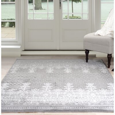 Royal Garden Gray Area Rug Rug Size: 5 x 77