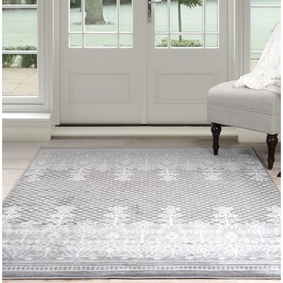 Royal Garden Gray Area Rug Rug Size: 8 x 10