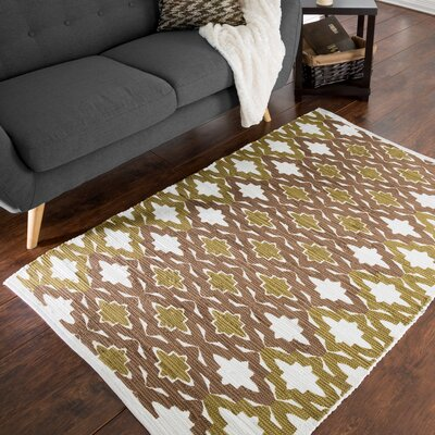 Roche Trellis Accent Hand-Woven Brown Area Rug