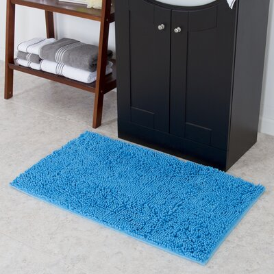 Kingsland High Pile Shag Accent Blue Area Rug