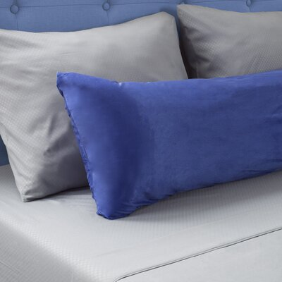 Micro-Suede Body Pillow Protector Color: Blue