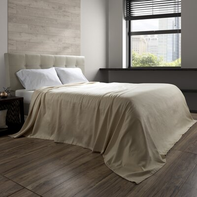 Acrisius 100% Cotton Blanket Color: Taupe, Size: King