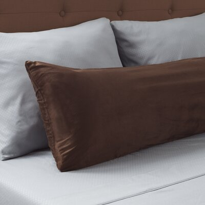 Micro-Suede Body Pillow Protector Color: Chocolate