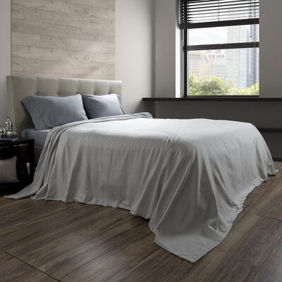 Acrisius 100% Cotton Blanket Size: Full/Queen, Color: Platinum